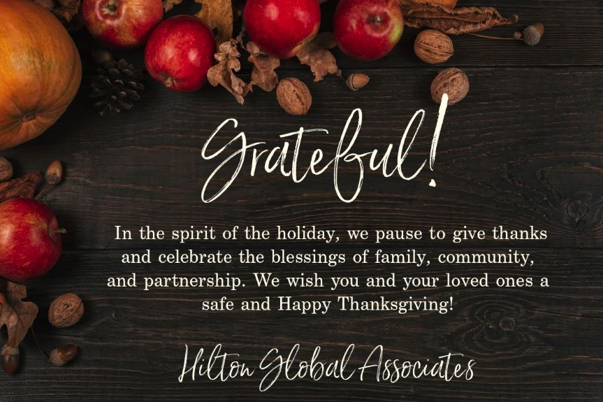 happy thanksgiving | Hilton Global